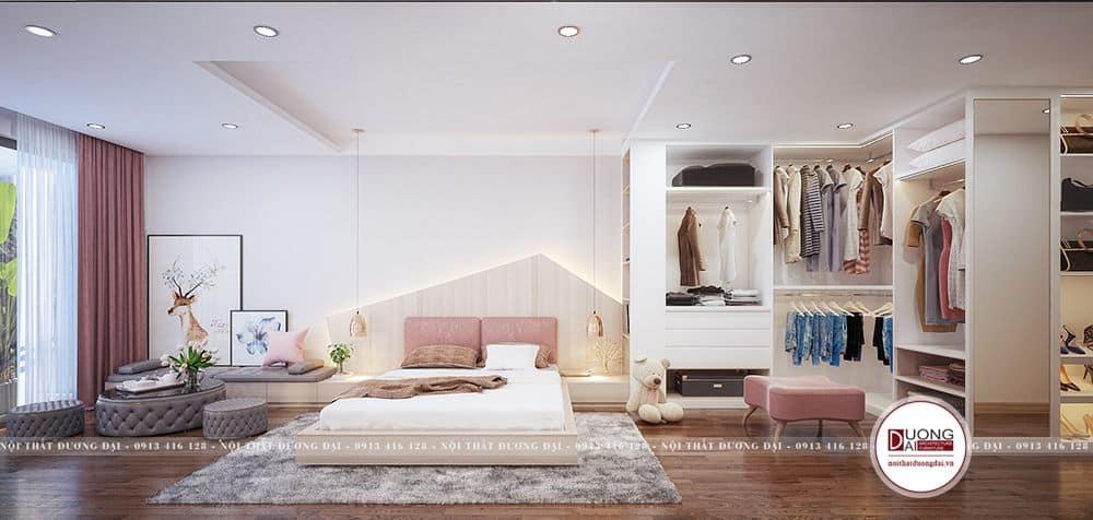 Kong gian phòng ngủ master đầy đủ và vô cùng rộng rãi