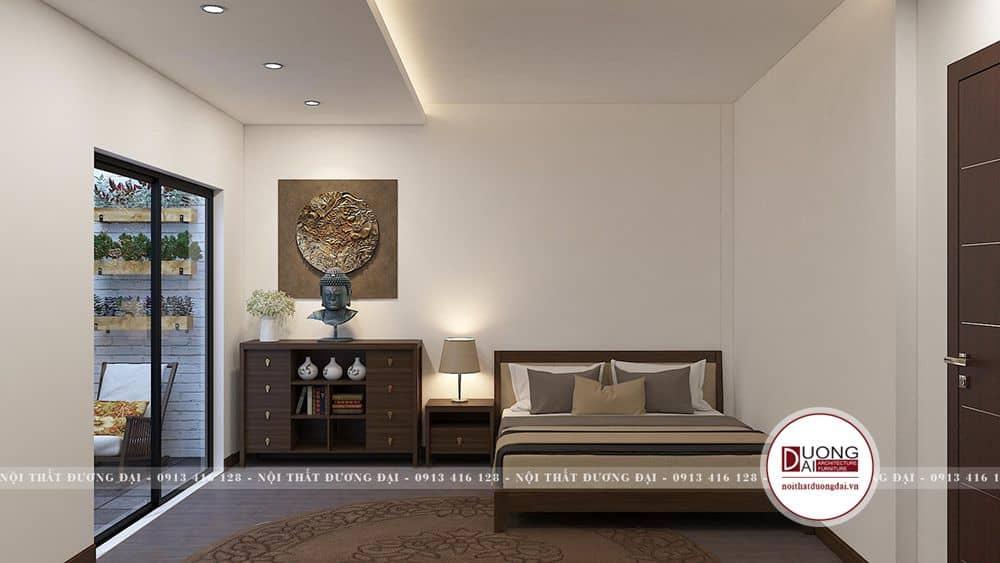 Phòng ngủ phụ tone màu trầm ấm dễ chịu