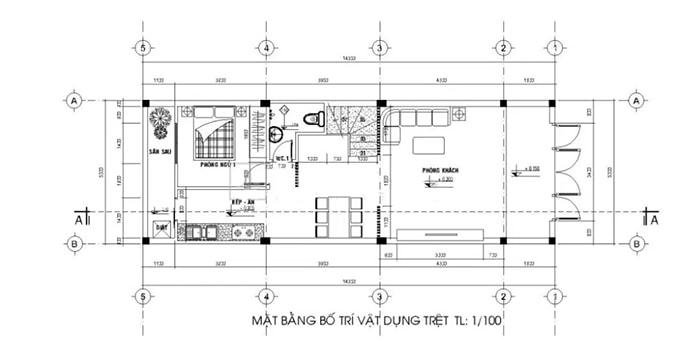 Thiết Kế Nhà Ống 2 Tầng 70m2 Với Kinh Phí Chỉ 500 Triệu