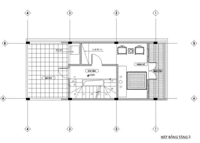thiết kế nhà ống 36m2