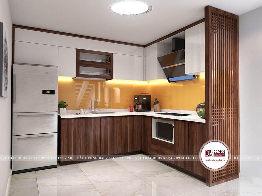 Phòng bếp đảm bảo sự tiện nghi thoải mái