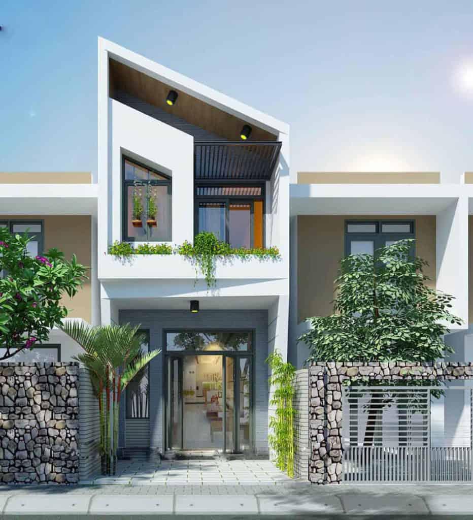 Xu hướng thiết kế nhà 2 tầng mái chéo lên ngôi