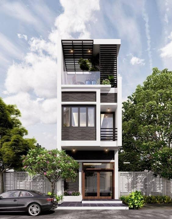 Thiết kế đối xứng tạo nên nét riêng cho công trình, không bị rập khuôn, đơn điệu như những nhà phố, nhà ống khác.