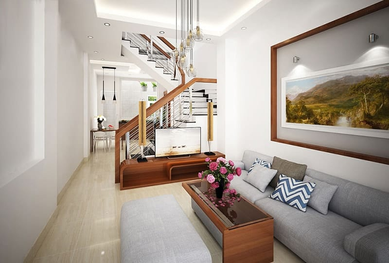 Không gian phòng khách đẹp sang trọng thiết kế theo phong cách hiện đại