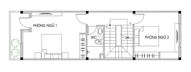 Thiết Kế Nhà Ống 40m2 3 Tầng Đẹp Lung Linh Chi Phí Xây Dựng Ít
