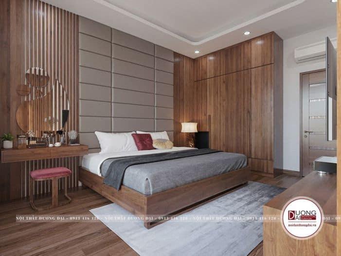 Nội thất phòng ngủ vô cùng sang trọng và tiện nghi