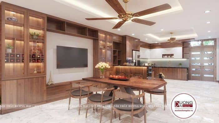 Nhà bếp không gian mở đẹp siêu hiện đại tiết kiệm điện năng