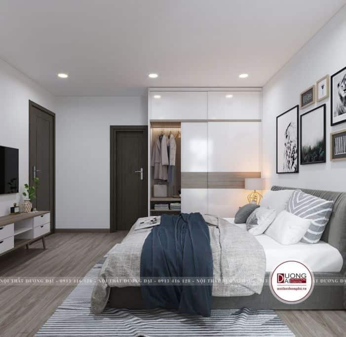 phòng ngủ hiện đại, nội thất đầy đủ