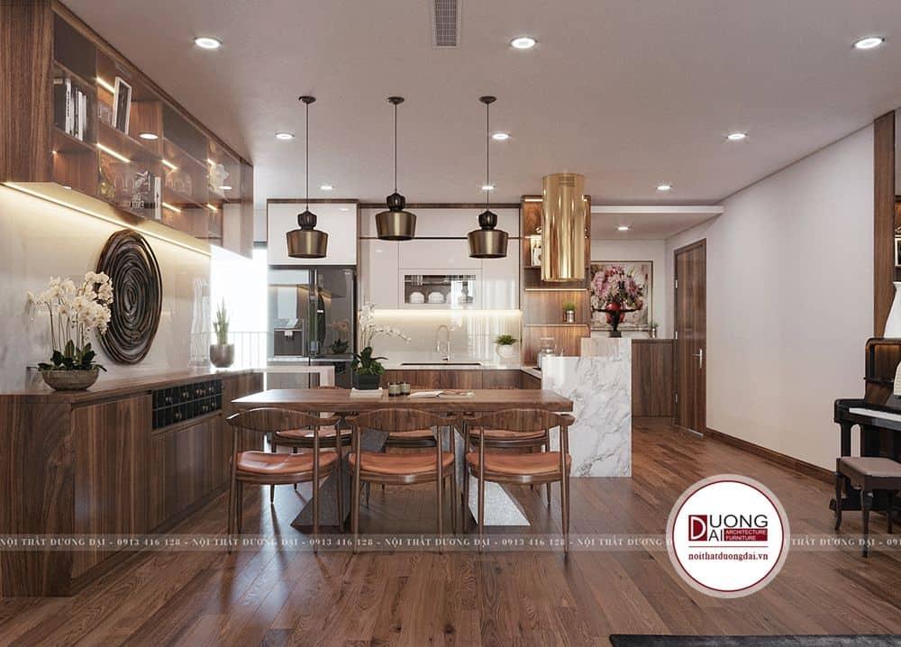Không gian phòng bếp ăn nổi bật với những đồ decor trang trí độc đáo