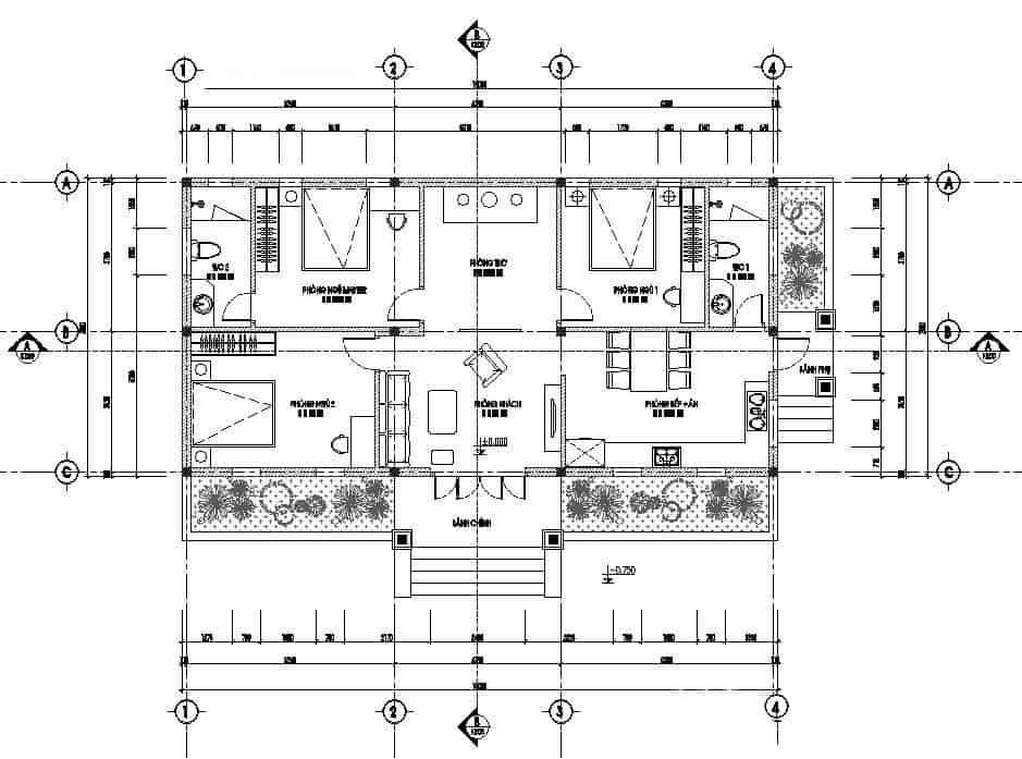 Thiết Kế Nhà Vườn 150m2 Kiểu Cấp 4 Đơn Giản Mà Hút Mắt