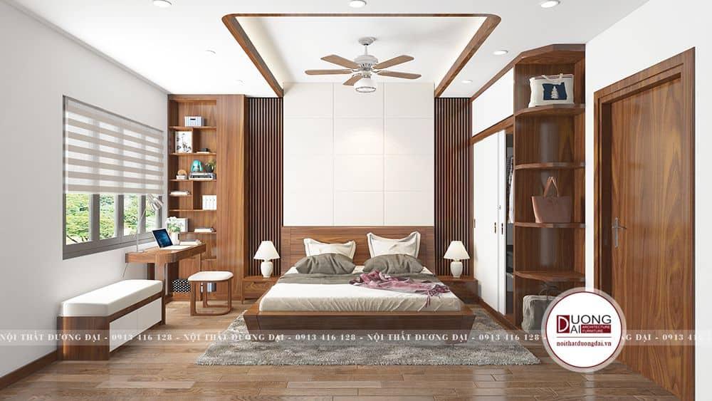 Thiết kế nội thất phòng ngủ master ấn tượng và thoáng rộng