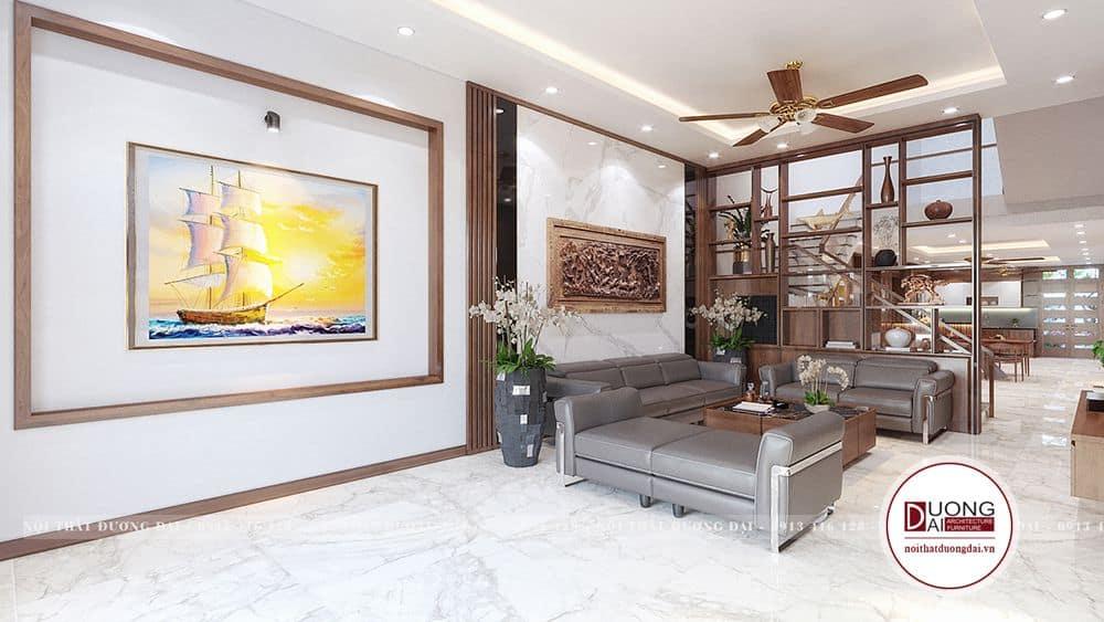 Phòng khách là nơi tiếp khách, thưởng thức trà bạn bè hoặc nơi sum vầy quây quần cùng gia đình