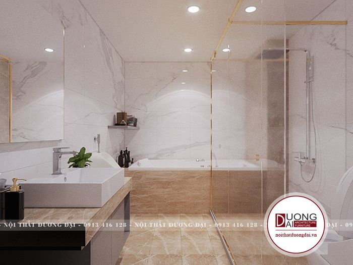 Thiết kế phòng tắm với sự hiện đại và công năng