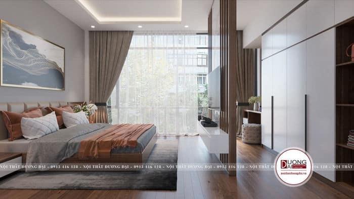 Phòng ngủ Master sang trọng với không gian mở