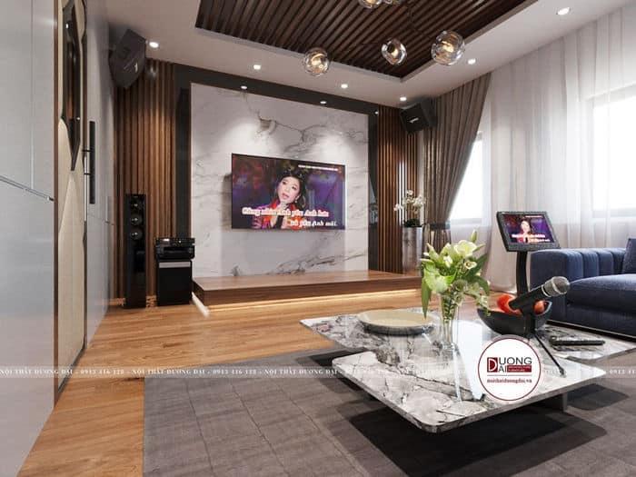Thiết kế phòng karaoke hiện đại nhưng rất ấm áp