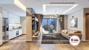 Thiết kế phòng khách sang trọng có tầm nhìn đẹp