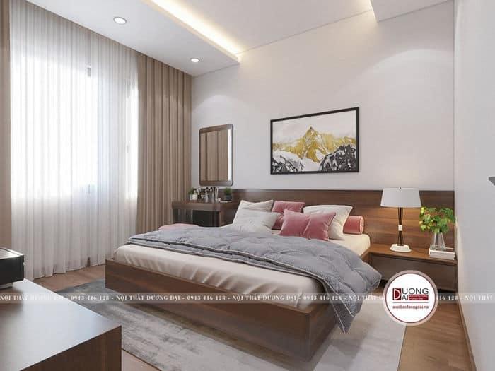 Phòng ngủ 4m x 3m với cách bài trí nội thất đơn giản, gọn gàng