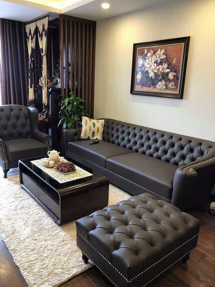[11/02/2020] Bộ Sofa Da Đẹp   Bàn Giao Cho Anh Sơn Ở Văn Giang Hưng Yên
