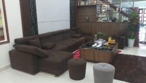 Bộ Sofa Da Màu Nâu | Bàn Giao Cho Anh Hải Ở Long Biên Hà Nội