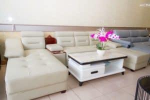 Ghế Sofa Góc Da Màu Kem | Bàn Giao Cho Chị Nguyệt Ở Gia Lâm Hà Nội