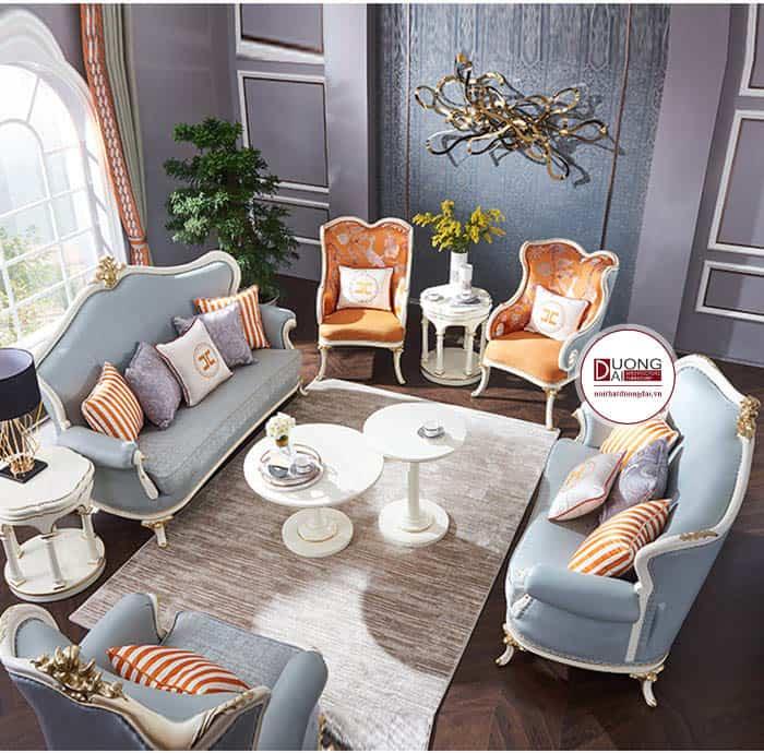 Sofa da cổ điển   mẫu sofa cao cấp cho phòng khách