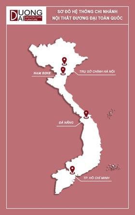 bản đồ chi nhánh thiết kế và thi công nội thất trên toàn quốc