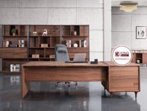 Thiết kế bàn trang trọng và lịch sự cho phòng làm việc