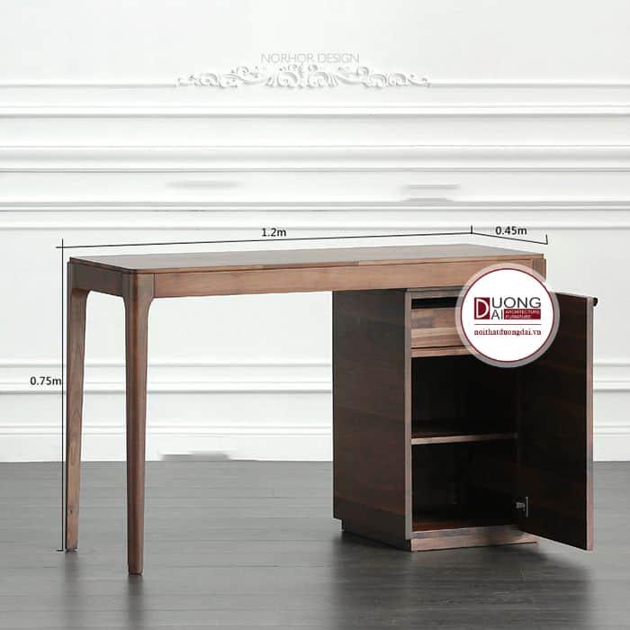 Thiết kế bàn làm việc nhỏ xinh có hộc tủ