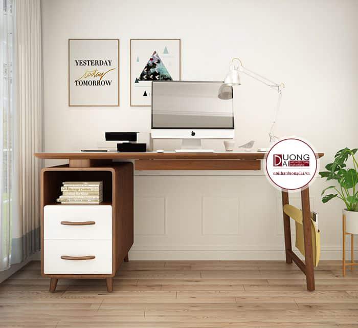 Thiết kế mới lạ khiến bàn làm việc rất sang trọng trong phòng