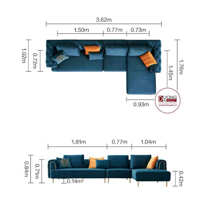 Ghế Sofa Chữ L Đẹp- SKYGN1007