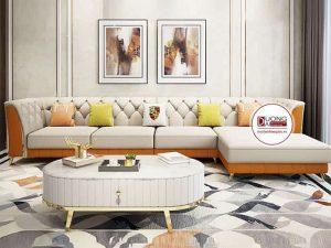 Sofa Góc Chất Liệu Nỉ- SKYGN1001