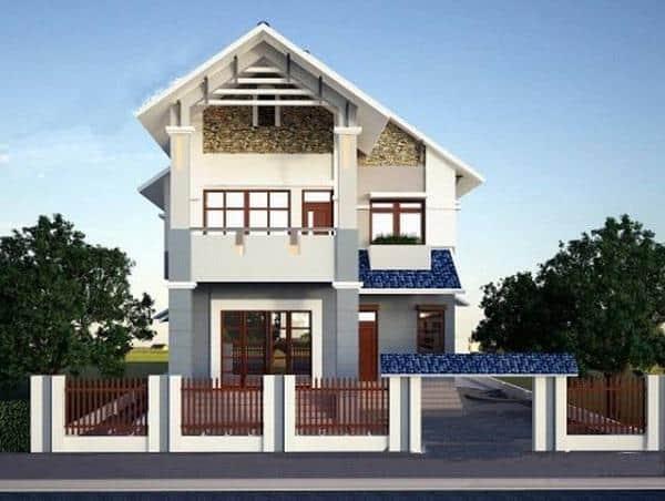 thiết kế nhà 8x16m 2 tầng