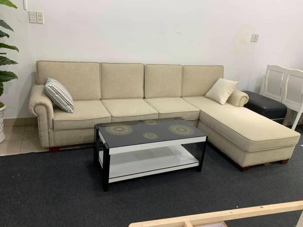 Sofa Góc Nỉ Giá Rẻ | Bàn Giao Cho Cô Trâm Ở Hoài Đức Hà Nội