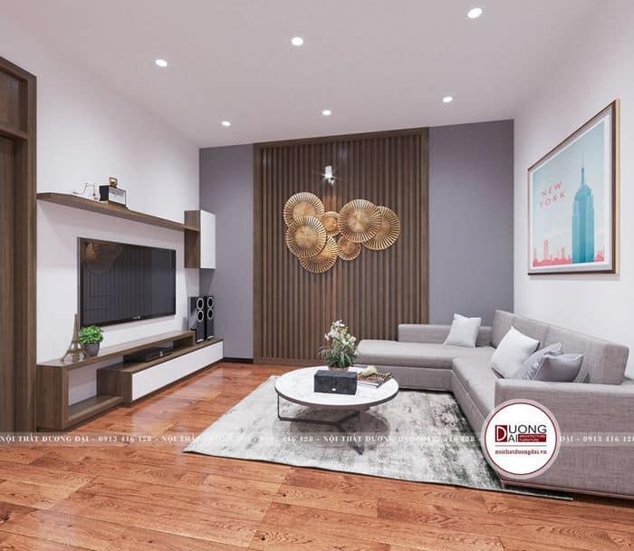 Trang trí phòng khách nhà phố đơn giản nhưng đầy cuốn hút, hiện đại