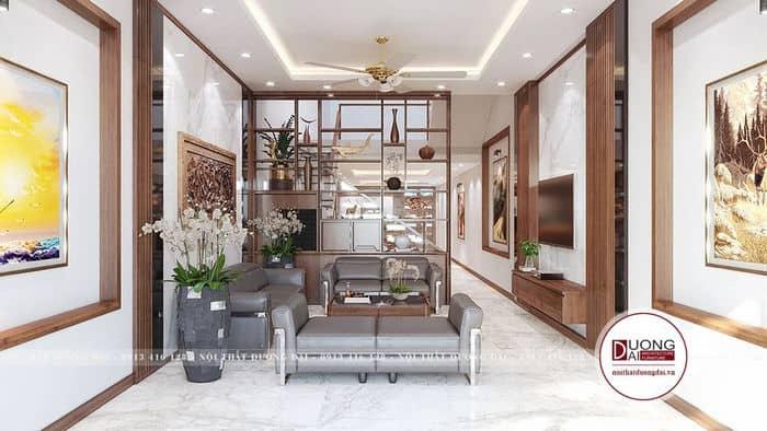 Mẫu phòng khách nhà ống siêu đẳng cấp với nội thất hiện đại và cao cấp