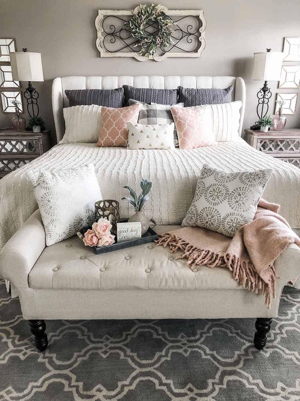 Thiết kế phòng ngủ với gam màu pastel đầy ấm áp và lãng mạn