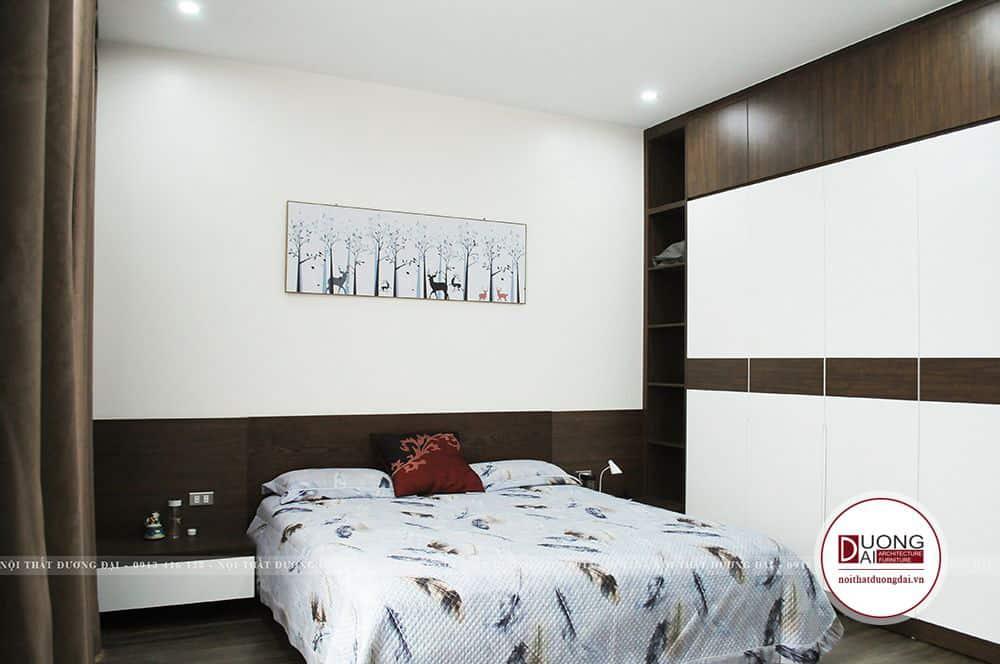 Kệ tủ treo tường 2 bên giường ngủ rất nhỏ gọn