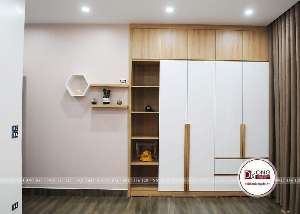 Tủ quần áo âm tường tiết kiệm nhiều không gian cho phòng ngủ