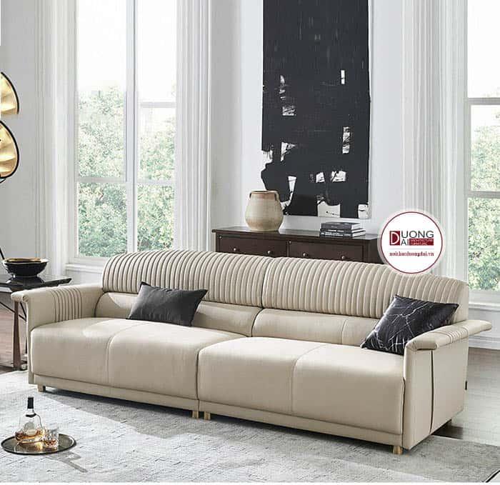 Sofa Da Văng Màu Kem | Thiết Kế Sang Trọng Hiện Đại