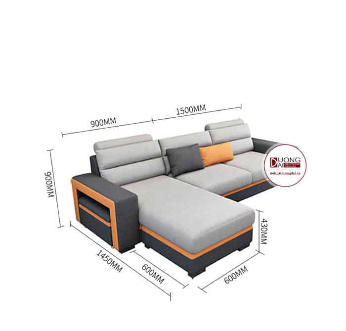 Sofa Góc Chất Liệu Nỉ- SKYGN1002