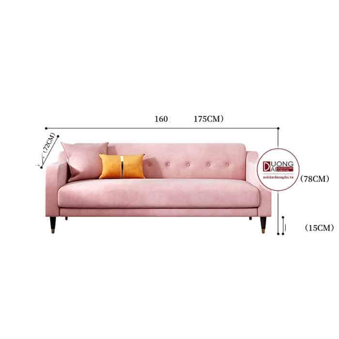 Sofa Nỉ Giá Rẻ Màu Hồng Hiện Đại Được Ưa Thích Nhất