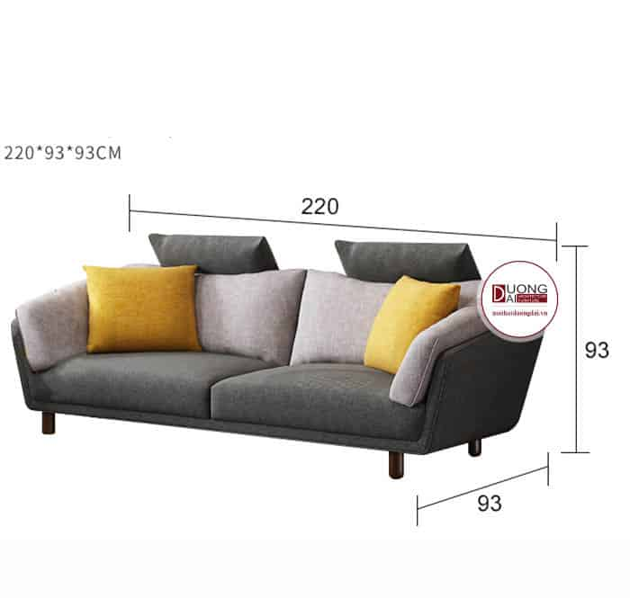 Sofa Nỉ Hiện Đại Gam Màu Xám Sang Trọng Lịch Sự