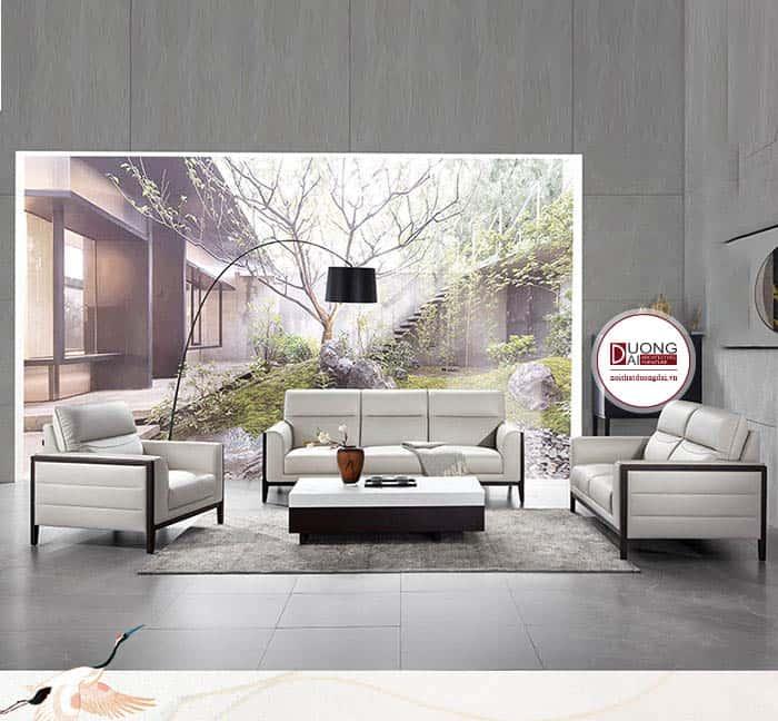 Sofa văng da - phong cách phòng khách sang trọng, hiện đại