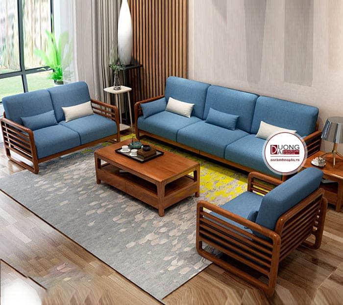 Phòng khách bài trí nội thất thông thoáng và sang trọng