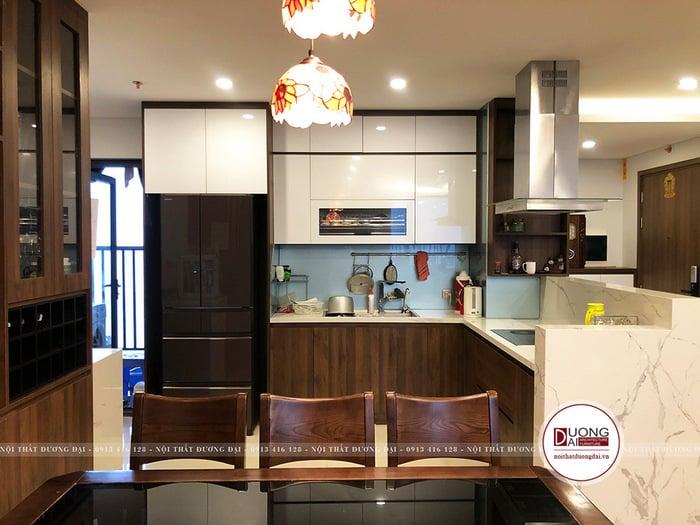 Thiết kế tủ bếp nhỏ gọn và đơn giản theo phong cách hiện đại