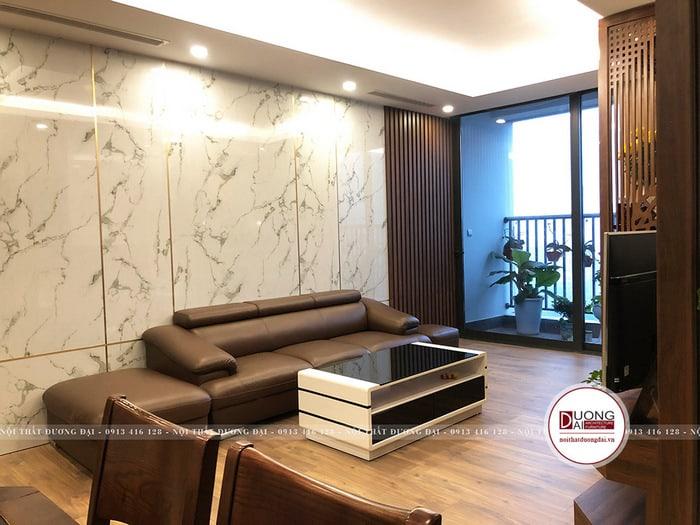 Thi công nội thất Cần Thơ cho phòng khách chung cư cao cấp