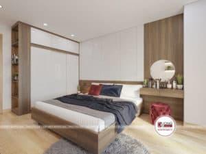 Phòng ngủ sử dụng nội thất gỗ MFC cao cấp
