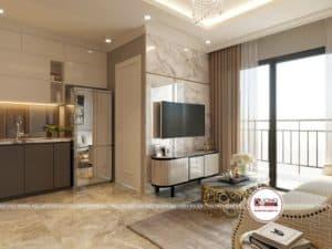 Thiết kế nội thất phòng khách sang trọng phong cách Pháp