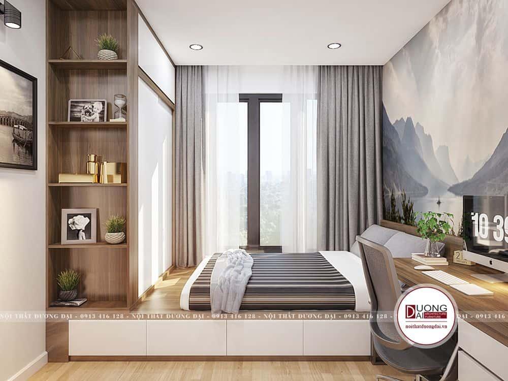 Phòng ngủ của bé trai với nội thất đa năng