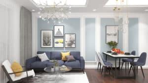 Nội thất phòng khách với nét sang trọng và cá tính